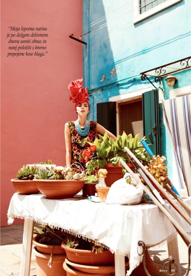 Creative: Petra Rozman Photo: Damjan Dimic Model: Maja Fučak Styling: Tina Tanko Makeup & Hair: Tjaša Založnik (magazine Story)